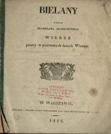Bielany : wiersz pisany w pierwszych dniach wiosny