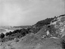 Góra Puławska : widok na wysoki brzeg pradoliny Wisły