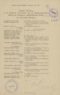 Zweiter Nachtrag zu A. Lüllwitz' Verzeichnis der im Regierungsbezirk Köslin in Pommern aufgefundenen Käfer