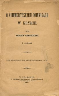 O kimmeryjskich pomnikach w Krymie