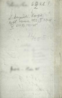 Notatnik z adresami i uwagami
