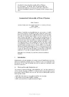 Geometrical Universality of Truss-Z System