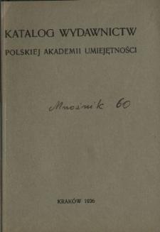 Katalog wydawnictw Polskiej Akademii Umiejętności