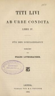 Titi Livi ab urbe condita liber IV