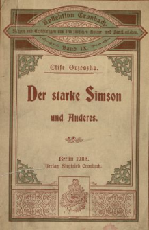 Der starke Simson und Anderes