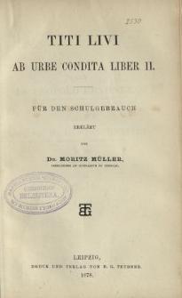 Titi Livi ab Urbe Condita Liber II