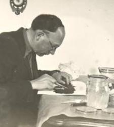 Antoni Goljan w pracowni