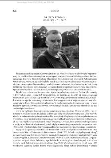 Dr Jerzy Pyrgała (10.08.1931 – 7.11.2017)