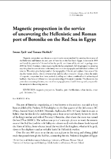 Magnetic prospection in the service of uncovering the Hellenistic and Roman port of Berenike on the Red Sea in Egypt