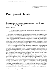 From proton- to caesium-magnetometry ‒ my 40 years in archaeological prospection