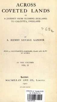 Across coveted lands or a journey from Flushing (Holland) to Calcutta, Overland : in two volumes. Vol. 2