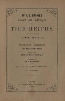 Die Klassen und Ordnungen des Thier-Reichs, wissenschaftlich dargestellt in Wort und Bild : 3 Band, Supplement, 84. 85. Lieferung : Tunicata (Manteltiere)