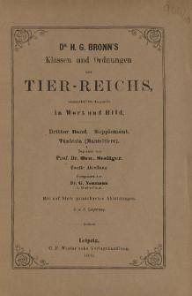 Die Klassen und Ordnungen des Thier-Reichs, wissenschaftlich dargestellt in Wort und Bild : 3 Band, Supplement, 4. 5. Lieferung : Tunicata (Manteltiere)