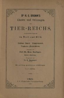 Die Klassen und Ordnungen des Thier-Reichs, wissenschaftlich dargestellt in Wort und Bild : 3 Band, Supplement, 8. 9. Lieferung : Tunicata (Manteltiere)