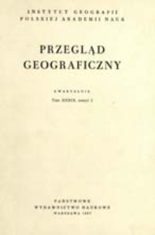 Przegląd Geograficzny T. 39 z. 2 (1967)