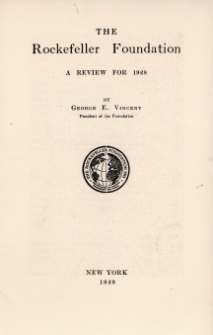 The Rockefeller Foundation : a review for 1928