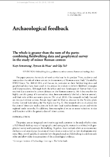 The whole is greater than the sum of the parts: combining fieldwalking data and geophysical survey in the study of minor Roman centres
