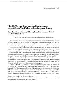LEA MAX – multi-purpose gradiometer array in the fields of the Kaikos valley (Bergama, Turkey)