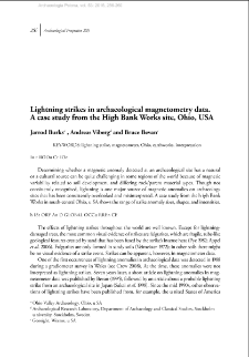 Lightning strikes in archaeological magnetometry data. A case study from the High Bank Works site, Ohio, USA