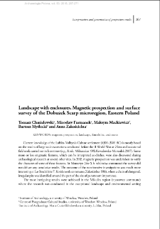 Landscape with enclosures. Magnetic prospection and surface survey of the Dobużek Scarp microregion, Eastern Poland