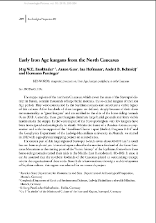 Early Iron Age kurgans from the North-Caucasus