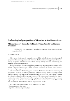 Archaeological prospection of kiln sites in the Samurai era