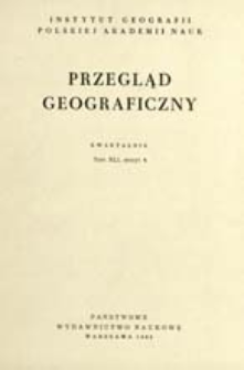 Przegląd Geograficzny T. 41 z. 4 (1969)