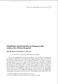 Distribution of gold and silver in European soils; evidence for a Roman footprint?
