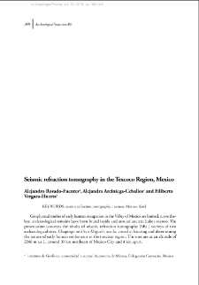 Seismic refraction tomography in the Texcoco Region, Mexico
