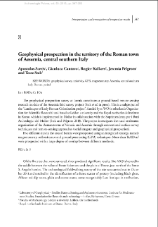 Geophysical prospection in the territory of the Roman town of Aesernia, Central-Southern Italy