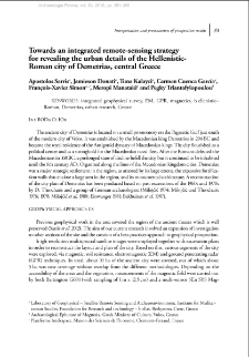 Towards an integrated remote-sensing strategy for revealing the urban details of the Hellenistic-Roman city of Demetrias, central Greece