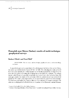 Hamadab near Meroe (Sudan): results of multi-technique geophysical surveys