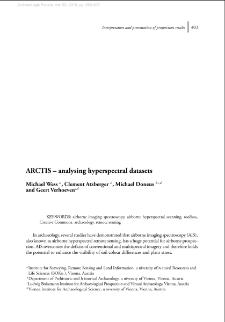 ARCTIS – analysing hyperspectral datasets