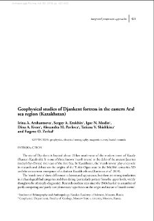 Geophysical studies of Djankent fortress in the eastern Aral sea region (Kazakhstan)