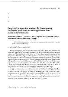 Integrated prospection methods for documenting threatened prehistoric archaeological sites from north-eastern Romania