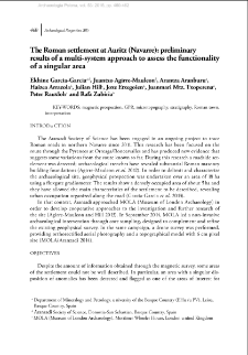 The Roman settlement at Auritz (Navarre): preliminary results of a multi-system approach to assess the functionality of a singular area