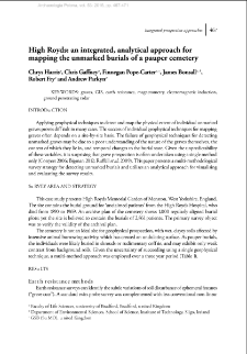 High Royds: an integrated, analytical approach for mapping the unmarked burials of a pauper cemetery