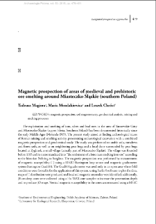 Magnetic prospection of areas of medieval and prehistoric ore smelting around Miasteczko Śląskie (southern Poland)