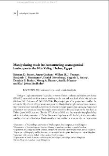 Manipulating mud: (re-)constructing cosmogonical landscapes in the Nile Valley, Thebes, Egypt