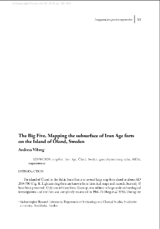 The Big Five. Mapping the subsurface of Iron Age forts on the Island of Öland, Sweden