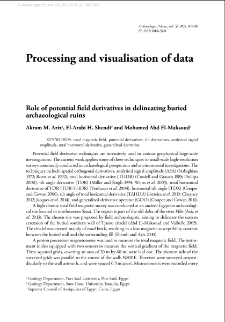Role of potential field derivatives in delineating buried archaeological ruins