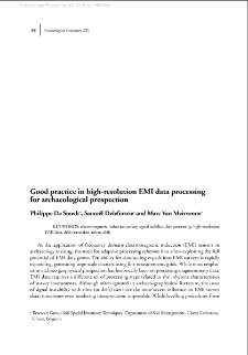 Good practice in high-resolution EMI data processing for archaeological prospection