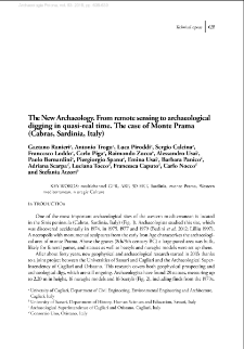 The New Archaeology. From remote sensing to archaeological digging in quasi-real time. The case of Monte Prama (Cabras, Sardinia, Italy)