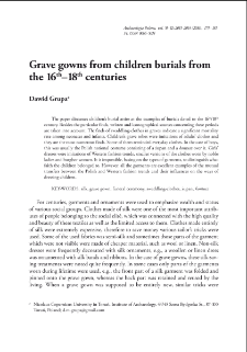 Grave gowns from children burials from 16th–18th centuries