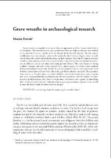Grave wreaths in archaeological research