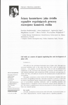 Cell walls as a source of signals regulating fate and development of plant cells