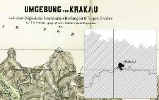 Umgebung von Krakau : nach einem Originale der Generalstabs-Abtheilung der 12t Truppen Division