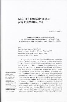 Komitet Biotechnologii przy Prezydium PAN