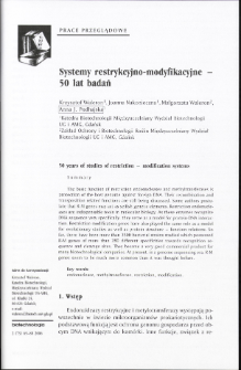 50 years of studies of restriction - modification systems