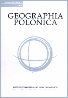 Geographia Polonica Vol. 92 No. 4 (2019), Contents